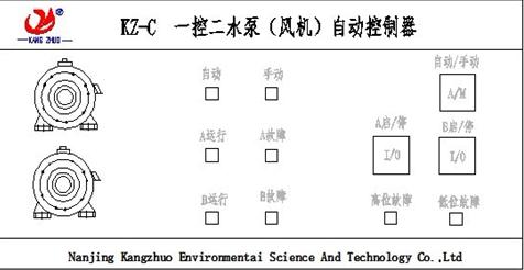 kz-c一控二电机水泵自动控制器_南京康卓环境科技有限